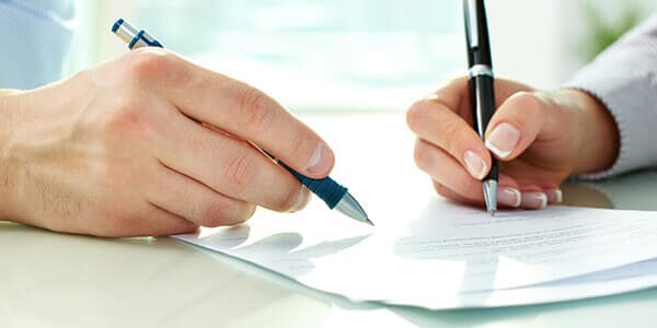 Vereinbarung für Scheidungsfolgen