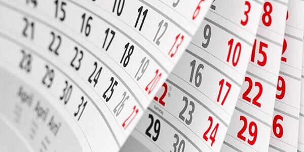 Trennungs Jahr im Kalender