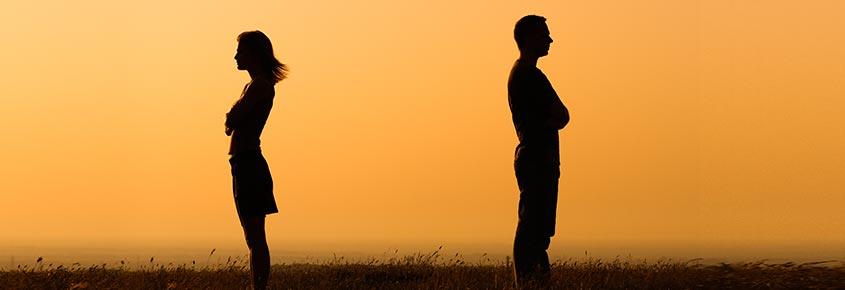 Ehepaar, dass sich scheiden lassen will