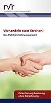 RVR Rechtsanwälte - Broschüre Konfliktmanagement